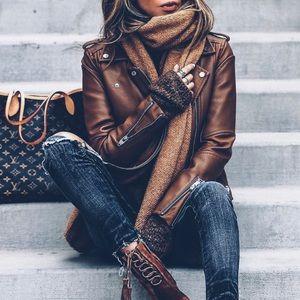 carmar distressed leather jacket